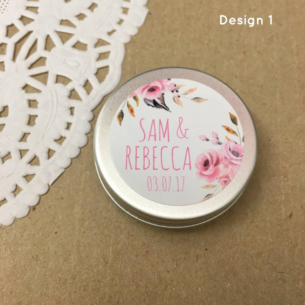 Are You Interested In Our Make Your Own Wedding Favours With Personalised Lip Balm