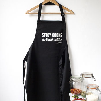 'Spicy Cooks Do It With Chilies…Ouch' Apron