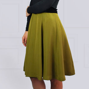 Paris Skirt Olive Green - winter sale