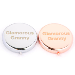 Glamorous Granny Compact Mirror In Rose Gold And Silver - compact mirrors