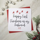 Happy First Christmas As My Husband Card