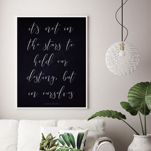 'It's Not In The Stars' Lifestyle Print