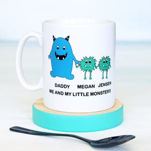 Personalised Little Monster Daddy Mug - tableware