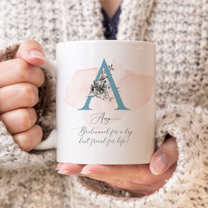 Bridesmaid Monogram Gift Mug