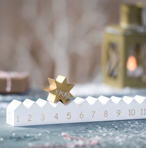 Wooden Advent Calendar And Star - advent calendars