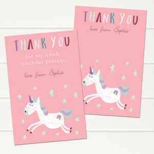 Personalised Unicorn Children's Thank You Cards - shop by category