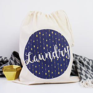 Home And Travel Laundry Bag, Little Arrows - laundry room