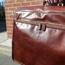 Finest Leather Garment / Suit Carrier. 'The Rovello'
