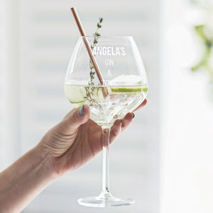 Personalised Gin Goblet - gifts for her