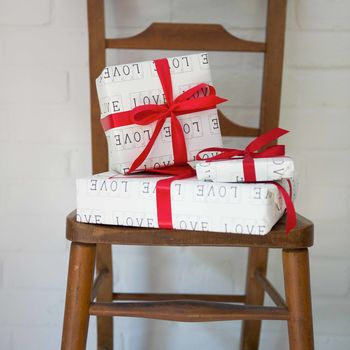 Luxury Love Gift Wrap And Tag