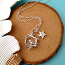 Bird And Initial Star Necklace