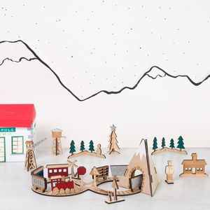 Wooden Train Advent Calendar