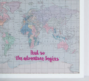 'And So The Adventure Begins' Map Notice Board