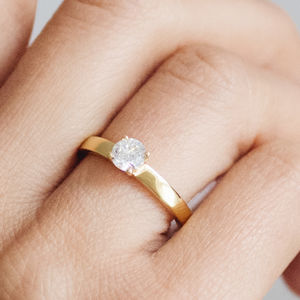 Aurora Ethical Fairtrade Diamond Engagement Ring - engagement rings