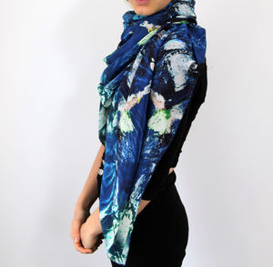 Reef Diver Silk Scarf - mother's day gifts