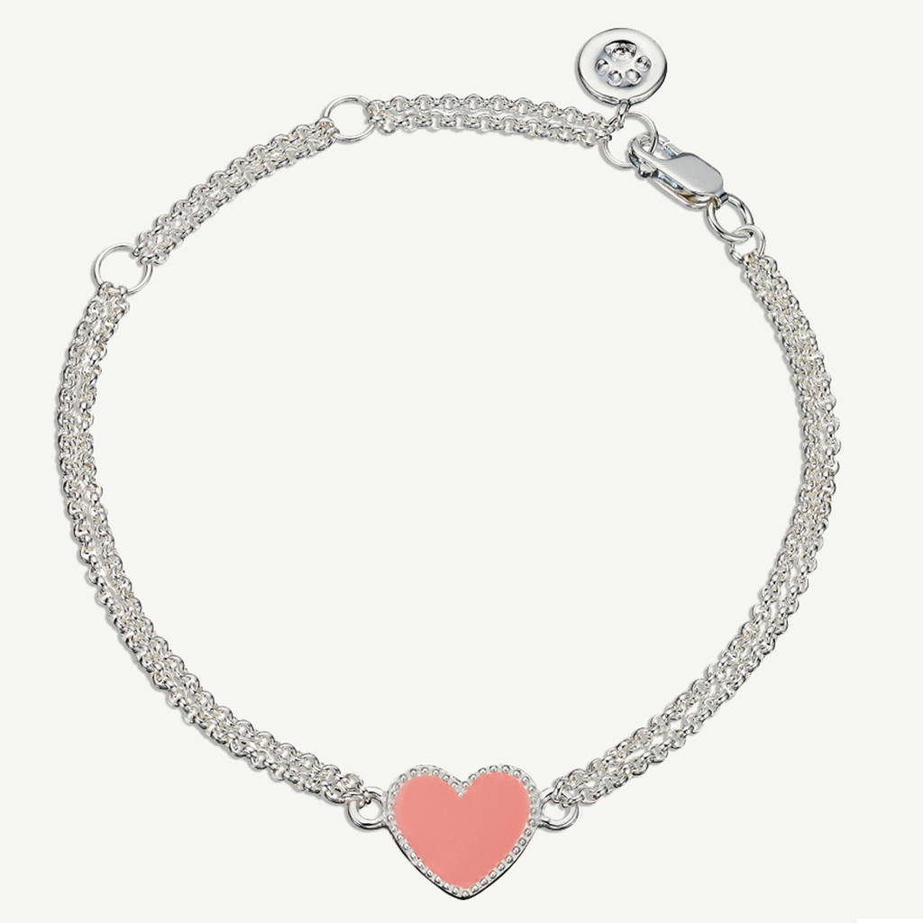 estella rose res pink heart bartlett high bracelet crystal uncarded gold