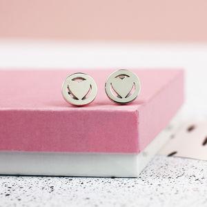 Personalised Heart Orbit Earrings - jewellery sale