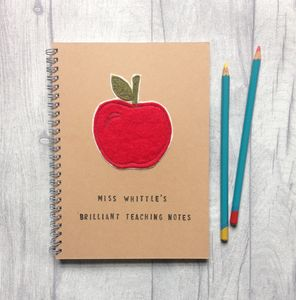 Personalised, Sewn Teacher's Notebook