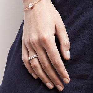 Silver Single Stacking Ring - rings