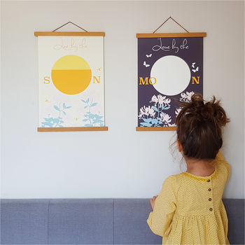 Framed Print Pair; Live By The Sun, Love By The Moon