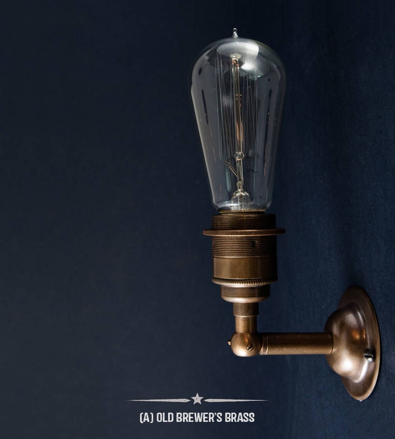 manston vintage style wall light by dowsing & reynolds notonthehighstreet.com