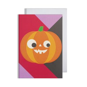 Halloween Pumpkin Glow In The Dark Card