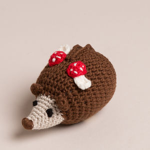 Hand Crochet Hedgehog Rattle Hanging