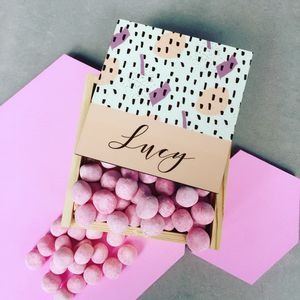 Personalised Box With Raspberry Ripple Bon Bons - food & drink sale