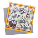 Happy Pandas Greetings Card