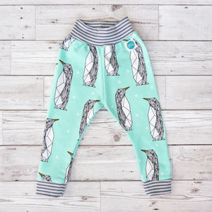 Organic Penguin Leggings - clothing