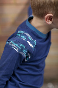Boys Camo Print Long Sleeved Top - clothing