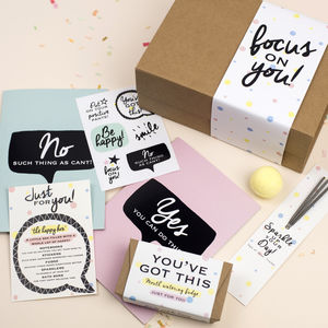 Happy Box Positive Gift 'Focus On You' Gift Box - get well soon gifts
