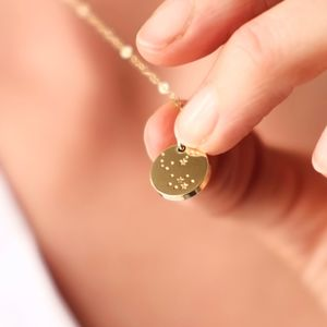 Hand Made Gold Star Constellation Necklace - zodiac gifts