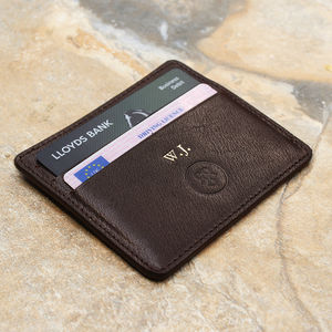 Italian Leather Card Holder 'The Marco' - 30th birthday gifts