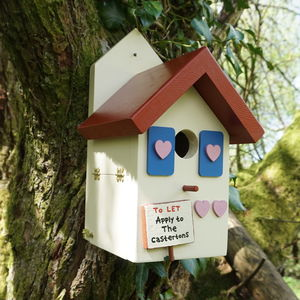 Personalised Handmade Country Cottage Bird House - bird houses