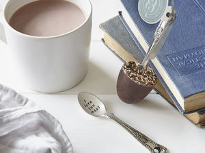 Chocolate Sprinkled Hidden Message Chocolate Spoon