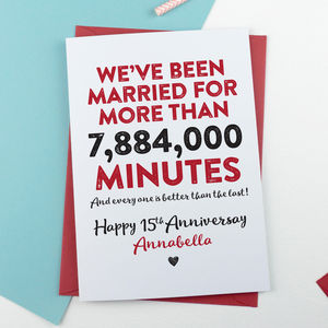 Happy Anniversary In Minutes Personalised Card - winter sale