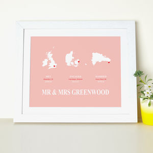 'Trio Couples Delight' Personalised Print - personalised