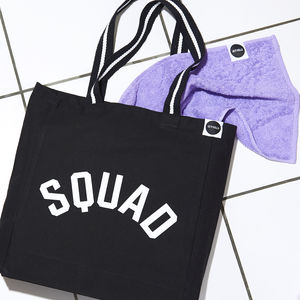 'Squad' Gym Bag, Black And White - sport-lover