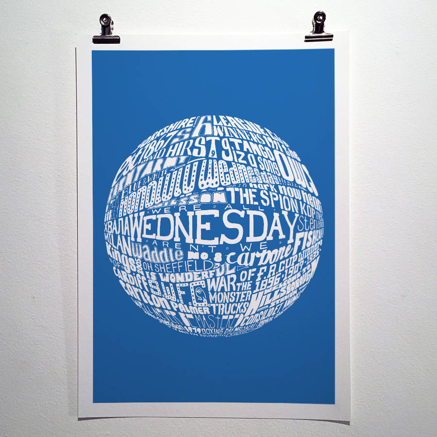 Sheffield Wednesday Football Club Typography Print By