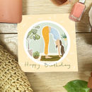 Yoga Bend Greeting Card