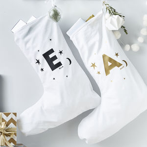 Little Star Personalised Christmas Stocking - christmas decorations