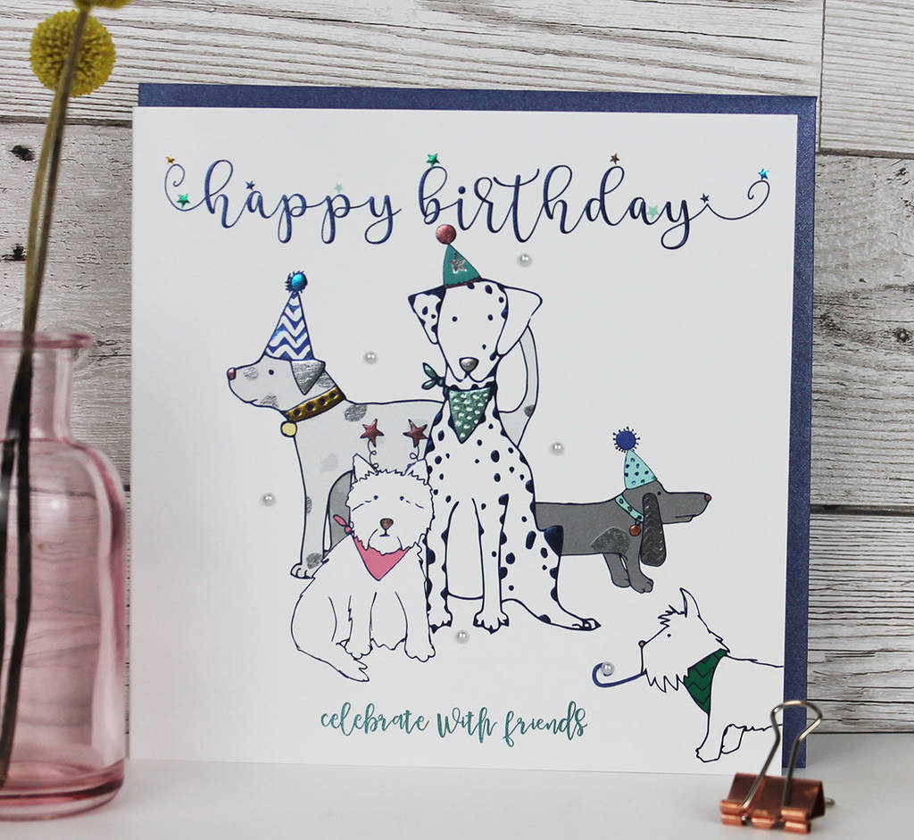 Birthday Card Dog Theme Luxury By Molly Mae