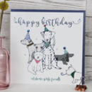 Birthday Card Dog Theme Luxury