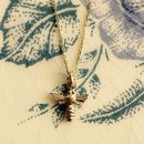 Honey Bee Pendant Solid 9ct Yellow Eco Gold