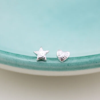 Silver Mismatch Mini Studs