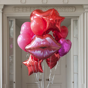 Red Crazy Party Foil Balloon Pack - balloons