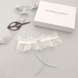Something Blue For A Wedding - bridal garters