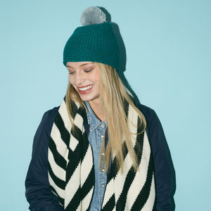 Chunky Knit Beanie Teal - hats