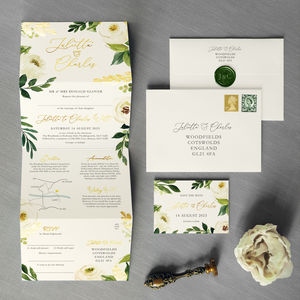 Viennese Folding Wedding Invitation - save the date cards